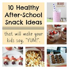 Looking for some new after school snack ideas? Here are 10 Healthy After School Snacks to try.