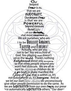 Nelson Mandela quote in Buddha silhoutte