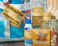 Welcome Bag Ideas. All customized products using paper and printers