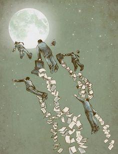 Escape - Illustration by Eric Fan