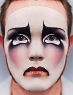 . face makeup, sad clown, face paintings, body paintings, makeup looks, dance makeup, clown makeup, vintage inspired, halloween