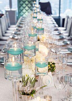 Long banquet tables...