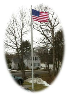 "Stephen N. of MA sent us this photo of the United States Flag Store flag in his front yard. ""[This flag] is one of the things I like best about the home we purchased. I proudly fly the American-Made flags I purchase from Online Stores."" Thank you, Stephen!   http://www.onlinestores.com/catalogsearch/result/?q=USA46SPVF"