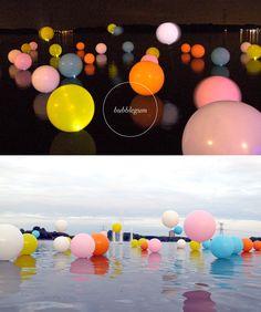 This floating bubble installation called Bubblegum by Merijn Hos & Renée Reijnders in the Netherlands is so fun... .