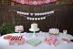 Birthday Party Table dessert tables, girl birthday, idea parti, 5th birthday, girls birthday parties, parti idea, ballerina birthday, pink parties, birthday ideas