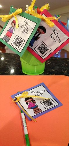 Back to School tags! Cutest tags ever for every occasion! Students will love these as pencil toppers, rewards, gift tags, and so much more. There are endless ideas to do with these tags!  K-3 $ QR QUEENS