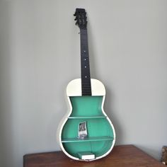 Hand-painted guitar shelf