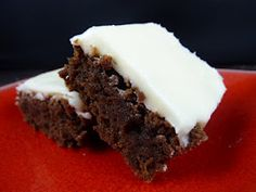 Fudgy Nutella Brownies with Cream Cheese Frosting by lib-bride
