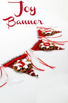 The perfect pennant banner to bring joy to your holiday home