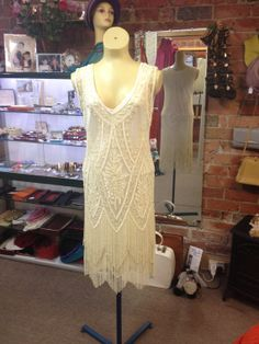 Charleston 1920's Cream Beaded Tassel by JulieVintageBoutique, $475.00