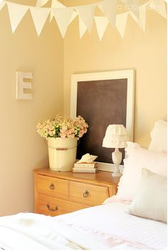 Put a chalkboard in the guest bedroom...write a welcome message, inspiring quote, etc.