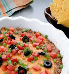 Our cheesy taco dip