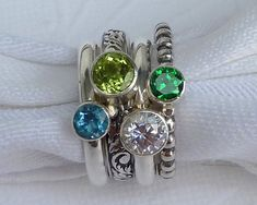 mother's ring... love all the different bands & stones stacked together.