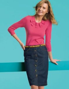 Denim Pencil Skirt. Boden.