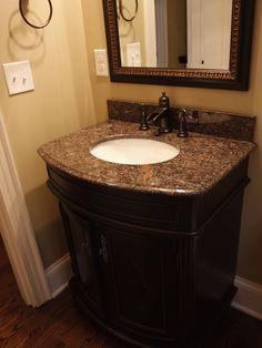 Half Bath Remodel On Pinterest Half Bathroom Remodel Caledonia Granite And