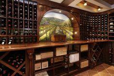 Wine cellar with beautiful mural