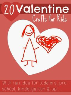 20 Valentine Day crafts for kids @Maaike Boven make lists ... #play