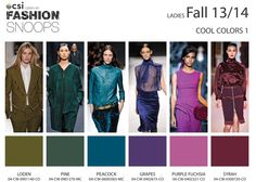 Womenswear: CSI Solutions / Fashion Snoops   Autumn/Winter 2013-2014