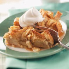 Caramel Apple Bread Pudding Recipe from Taste of Home -- shared by Michelle Borland of  Peoria, Illinois