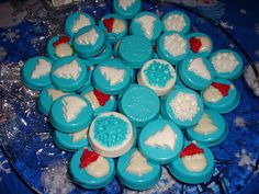 Oreo cookies dipped in candy molds From Just Say Sew