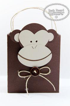 Stampin' Up!  Fancy Favor Box  Beth Beard  Monkey Punch Art