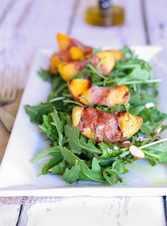 Grilled Prosciutto Peach Salad - Against All Grain
