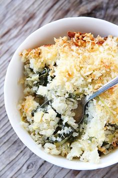 Spinach and Artichoke Quinoa Bake by twopeasandtheirpod #Quinoa #Spinach #Artichoke