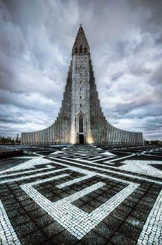 The Church of Hallgrimur. Reykjavik, Iceland church