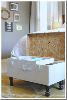 DIY Old Trunk Transformation, great for storage!