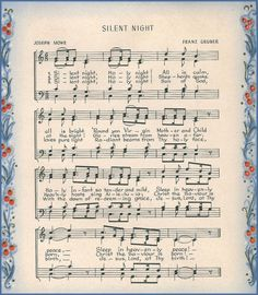 Silent Night - Scanned from my personal collection of vintage art.