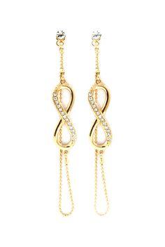 Golden Infinity Dangles   Emma Stine Jewelry