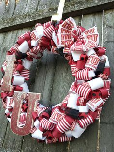 Indiana University Wreath with LIGHTS by PApplePieCreations, $63.50