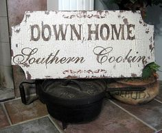 southern hospitality, southern sign, home signs, southern food, kitchen signs, country signs, french country, southern recip, southern cookin