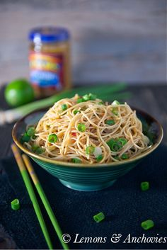 Noodles with Peanut-Lime Vinaigrette | Lemons & Anchovies