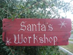 Santa's Workshop - Hand Painted make one like this!