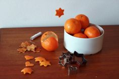 mandarindecorationallinon, decorazioni con, stars, christmas decorations, christma decor, cookie cutters, last minute, christma craft, decor craft