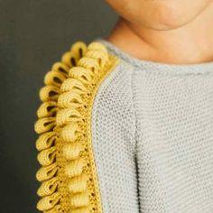 Tricot : joli détail épaule