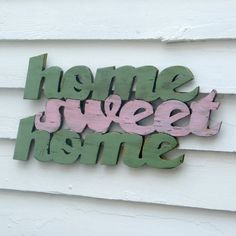 Home Wooden Sign Home Sweet Home Sign by SlippinSouthern on Etsy, $69.00