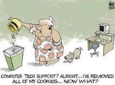 Computer tech support-cookies