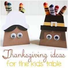 thanksgiving kids craft ~ pilgrims