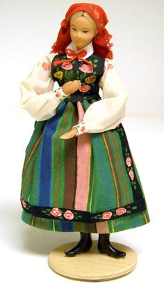 Vintage Collectible Handmade Polish Woman Doll by PaintedOnPlaques, $75.00