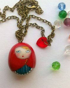 Adorable: Cold porcelain Matrioska by OOgieboo on Etsy, €15.00