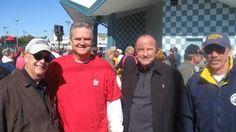 #'50s weekend Bill Culp, John Lynch, John Sciiliano and Skip Allen at Fox Park for the afternoon fun.