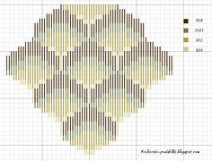Bargello acorn/pine cone pattern