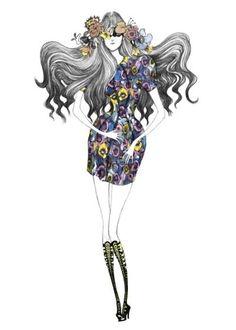 lain fashion, lain illustr, fashion sketches, art, amen fashion