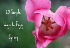 enjoy spring, cherish simpl, doug toy, spring fun, 20 simpl