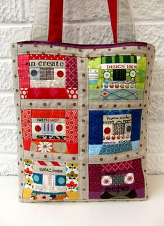 Love this......Mix tape bag by Very Berry Handmade, via Flickr
