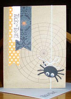 Halloween Spider Paper Pumpkin idea September 2013 Paper Pumpkin Kit