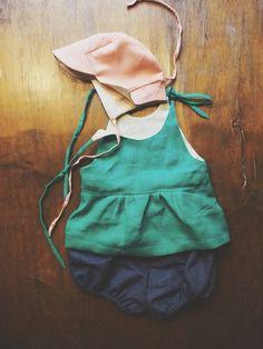 Garden Baby Sun Cap, baby sun shirt, baby bloomer
