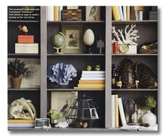 Loads of bookshelf styling ideas and different versions